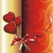 Vector illustration Holiday background. Lollipops for Valentine's Day.
