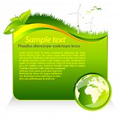 Vector green eco template with globe