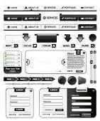 Collection of black web design elements 1