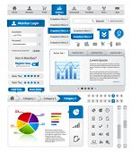Modern blue website template collection