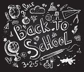Back to school chalkboard sketch