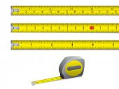 picture of tape-measure  - Tape measure in inches and centimeters - JPG