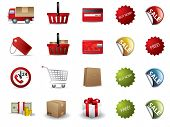 picture of trash truck  - Shopping icons - JPG