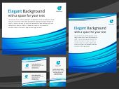 Business templates - letterhead design and cards - blue and white color