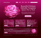 beautiful website template for woman, beauty products, salons