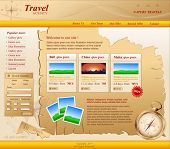 yellow Vector Web site for travel agency