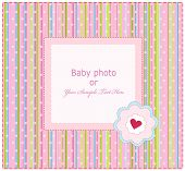 Baby  Arrival Card with Photo Frame