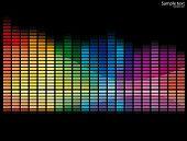 Vector illustration of a bank of spectrum lights