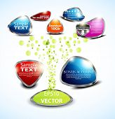 set glossy volume download button icon. Vector design