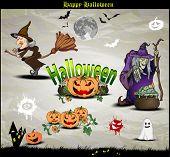 Halloween Symbole und Elemente für design