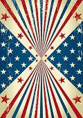 Bandeira de bom. Uma bandeira americana para um cartaz de fundo.
