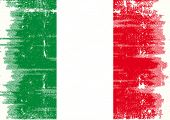 Italian grunge flag Flag of Italy with a texture for you.