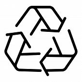 Recycle Sign Line Icon. Eco Recycling Sign Vector Illustration Isolated On White. Recycle Symbol Out poster