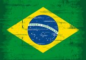 stock photo of brazilian carnival  - Brazilian grunge flag - JPG