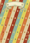 Постер, плакат: Винтажные звёзд шаблон плакат Старинный дизайн для ретро плакат