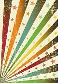 retro multicolor grunge flag. A retro grunge poster for you.