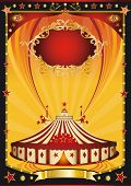 stock photo of circus tent  - Nice orange and black circus poster - JPG