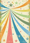 Grunge carnival A retro circus background for a poster