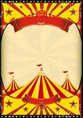 stock photo of school carnival  - circus poster big top - JPG