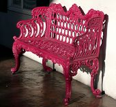 Ornate Pink Bench