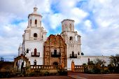 San Xavier mission in Tucson Arizona Spanish religion building architecture poster