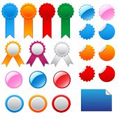 Vector collection of labels, badges and awards