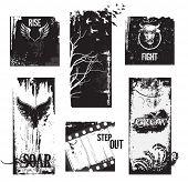 O Grunge definitivo de rótulos, banners e cabeçalhos