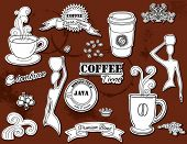 stock photo of steamy  - Doodle design elements  - JPG