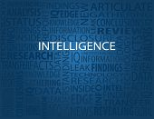 Intelligence, typography background