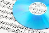 Blue Cd Or Dvd On Sheet Music