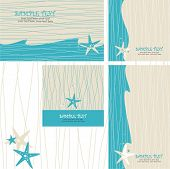picture of greeting card design  - greeting cards set with sea star  - JPG