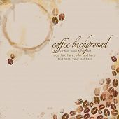 Painted watercolor coffee background