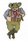 Cartoon ilustração de vaqueiro