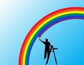 painting the rainbow