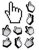 Raster set of 3d cursors