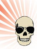 Vector Human Skull with Sunglasses