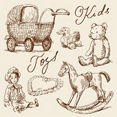 picture of buggy  - hand drawn toys - JPG
