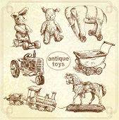 antique toys-original hand drawn collection