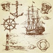 picture of navy anchor  - nautical set - JPG