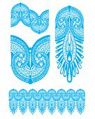 Inspired by Henna Tattooing, perfect for Wallpaper, Greeting or textile design.