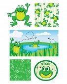 Fun frogs. Use to print onto fabric bags to hold bath toys for the kids or simply use for scrap book