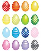 Colorful Easter Eggs. Use to create fun Easter projects