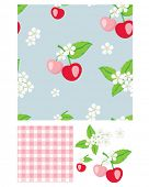 Pretty cherry patterns. Use to print onto fabric for home baking or as backgrounds or other d�©cor