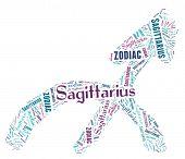 Textcloud: silhouette of sagittarius