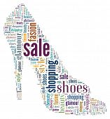 Wordcloud: silhouette of shoes