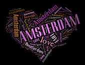 Wordcloud: love heart of city Amsterdam