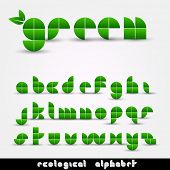 Green Ecological Alphabet
