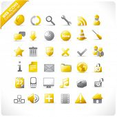 new set of 36 glossy web icons in yellow and grey (see also other web stuff in my portfolio)