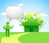 green energy concept - low-energy/ passive houses