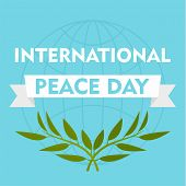 International Peace Day Blue Background. Flat Illustration Of International Peace Day Blue Backgroun poster